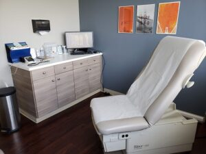 Exam room for vein specialists